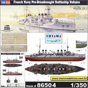 French Navy Pre-Dreadnought Battleship VOLTAIRE - Hobby Boss - 1/350