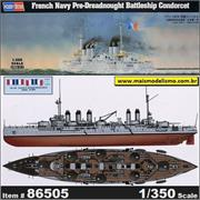 French Navy Pre-Dreadnought Battleship CONDORCET - Hobby Boss - 1/350