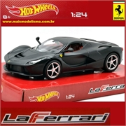 Ferrari LaFERRARI Preta - Hot Wheels - 1/24