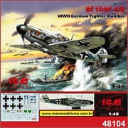 Messerschmitt BF109 F- 4/B WWII German Fighter-Bomber - ICM - 1/48