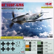 Messerschmitt BF109 F- 4/R6 WWII German Fighter - ICM - 1/48