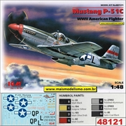 Mustang P-51C WWII American Fighter - ICM - 1/48