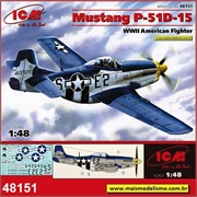 Mustang P-51D-15 WWIIAmerican Fighter - ICM - 1/48