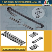 Esteiras T-136 Tracks for M108/M109 Series - Italeri - 1/35