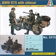BMW R75 with Sidecar - Italeri - 1/35