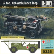 1/4 ton 4x4 Ambulance Jeep - Italeri - 1/35