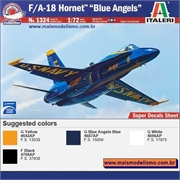 F/A-18 Hornet Blue Angels - Italeri - 1/72