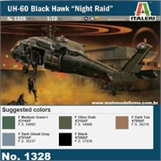 Helicóptero UH-60 Black Hawk Night Raid - Italeri - 1/72