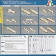 WWII German Aircraft WEAPONS - II - Italeri - 1/72