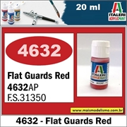 Tinta ITALERI 4632AP Acrylic Guards RED Fosco FS31350 - 20ml