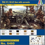 PAK 97 /38 AT Gun with Servants  - Italeri - 1/35