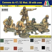 Cannone da 47 / 32 Mod. 39 with Crew  - Italeri - 1/35