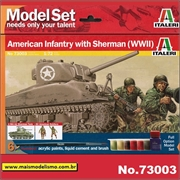 Sherman with American Infantry - Model-Set Italeri - 1/72