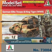 King Tiger e German Elite Troops (WWII) - Model-Set Italeri - 1/72