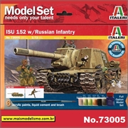 ISU 152 with Russian Infantry - Model-Set Italeri - 1/72