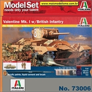 Valentine Mk. I with British Infantry - Model-Set Italeri - 1/72