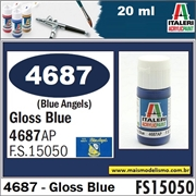 Tinta ITALERI 4687AP AZUL Blue Angels Brilho FS15050 - 20ml