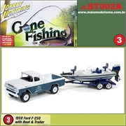 1959 - Ford F-250 with Boat and Trailer - Johnny Lightning - 1/64
