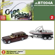 1973 - Chevrolet Caprice with Boat and Trailer - Johnny Lightning - 1/64