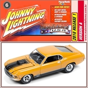 1970 - Ford MUSTANG Mach 1 Laranja - Johnny Lightning - 1/64