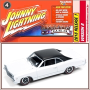 1967 - Chevy Chevelle MALIBU Branco - Johnny Lightning - 1/64