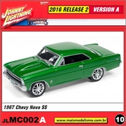 1967 - Chevy Nova SS Verde - Johnny Lightning - 1/64