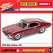 1969 - Olds Cutlass 442 Vinho - Johnny Lightning - 1/64