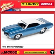 1971 - Mercury Montego Azul - Johnny Lightning - 1/64