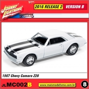 1967 - Chevy Camaro Z28 Branco - Johnny Lightning - 1/64
