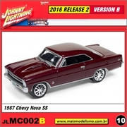 1967 - Chevy Nova SS Vinho - Johnny Lightning - 1/64