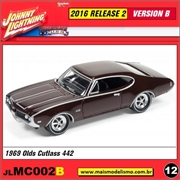 1969 - Olds Cutlass 442 Marrom - Johnny Lightning - 1/64