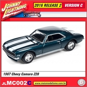 1967 - Chevy Camaro Z28 Turquesa - Johnny Lightning - 1/64
