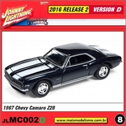 1967 - Chevy Camaro Z28 Azul Escuro - Johnny Lightning - 1/64
