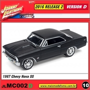 1967 - Chevy Nova SS Preto Fosco - Johnny Lightning - 1/64