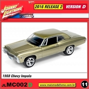 1968 - Chevy Impala Gold - Johnny Lightning - 1/64