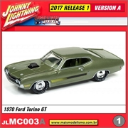 1970 - Ford Torino GT Verde - Johnny Lightning - 1/64