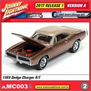 1969 - Dodge Charger R/T Bronze - Johnny Lightning - 1/64