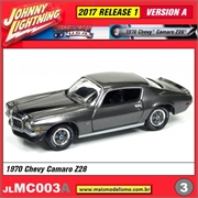 1970 - Chevy Camaro Z28 Cinza - Johnny Lightning - 1/64