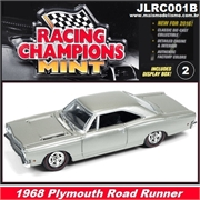 1968 - Plymouth ROAD RUNNER Cinza - Johnny Lightning - 1/64