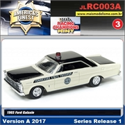 1965 - Ford Galaxie Police Branco - Johnny Lightning - 1/64