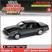 1986 - Buick Regal T-Type Preto - Johnny Lightning - 1/64