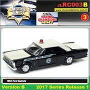 1965 - Ford Galaxie Police Preto - Johnny Lightning - 1/64