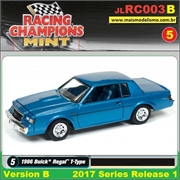 1986 - Buick Regal T-Type Azul - Johnny Lightning - 1/64
