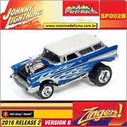 1957 - Chevy Nomad Azul - Johnny Lightning Street Freaks - 1/64