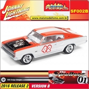 1966 - Dodge Charger Branco 42 - Johnny Lightning Street Freaks - 1/64