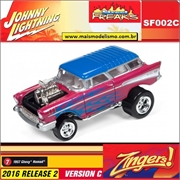 1957 - Chevy Nomad Vinho - Johnny Lightning Street Freaks - 1/64
