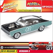 1966 - Dodge Charger Verde 42 - Johnny Lightning Street Freaks - 1/64