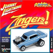 1963 - Chevy NOVA Azul - Johnny Lightning Street Freaks - 1/64