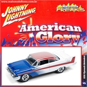1958 - Plymouth BELVEDERE Branco - Johnny Lightning Street Freaks - 1/64
