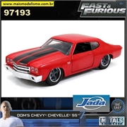 Fast and Furious - 1969 Doms Chevy Chevelle SS - Jada - 1/24